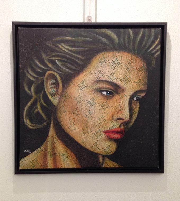 Paolo Medici - Donna con viso tatuato